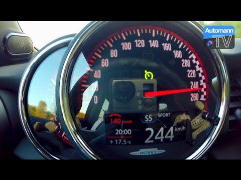 MG Performance Mini JCW - insane POV top speed run on the Autobahn ...