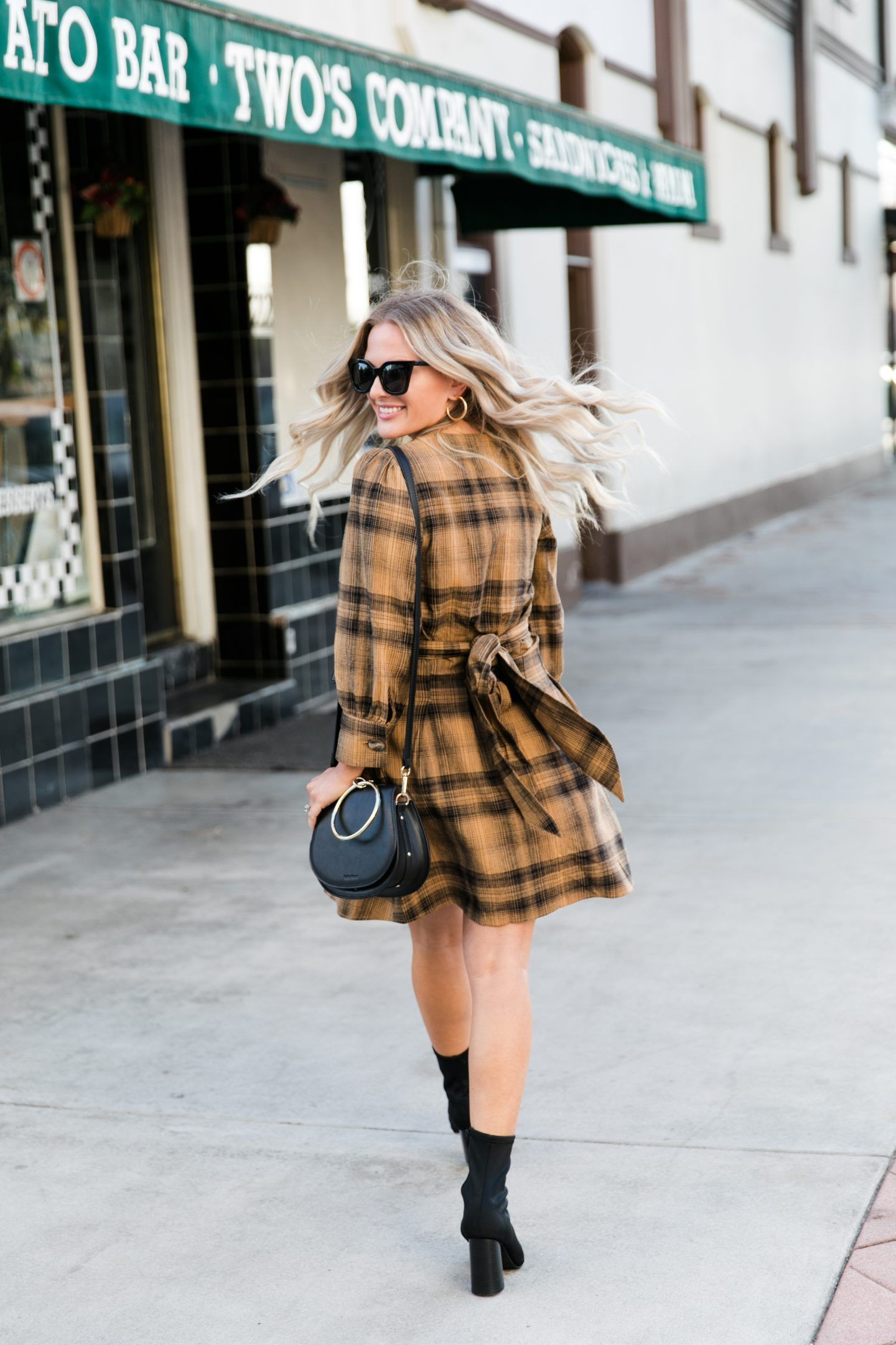 Cute Free People Plaid Dress for Fall  Fashion  Dress Me Blonde