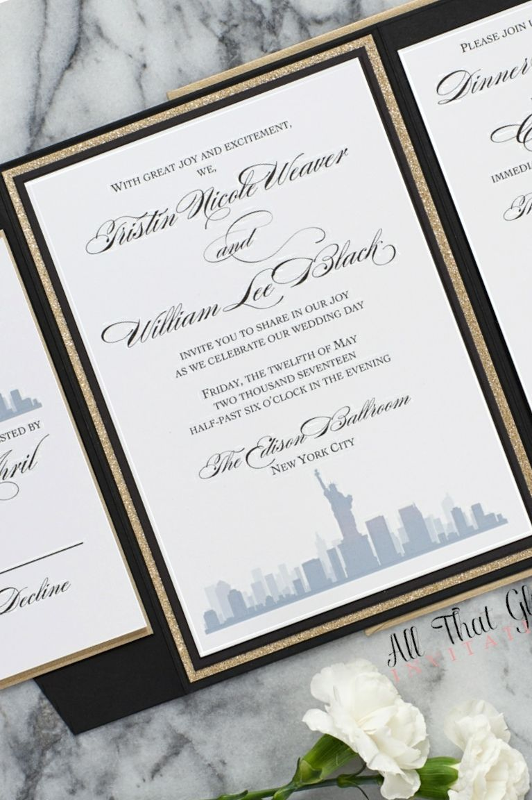 Tristin, The Skyline Wedding Invitation, by | Wedding Invitations ...