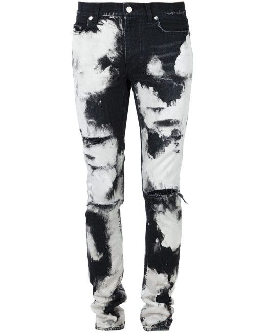 Saint Laurent - White Tie-dye Skinny Jeans for Men in 2019  707a4a07681d1