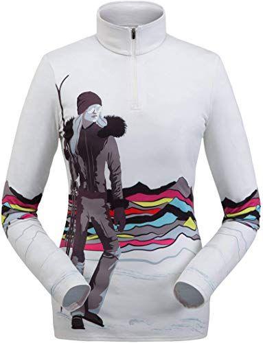 Neue Spyder Damen Moda Zip T Neck online – Prettyclothingstyle   – women winter clothing