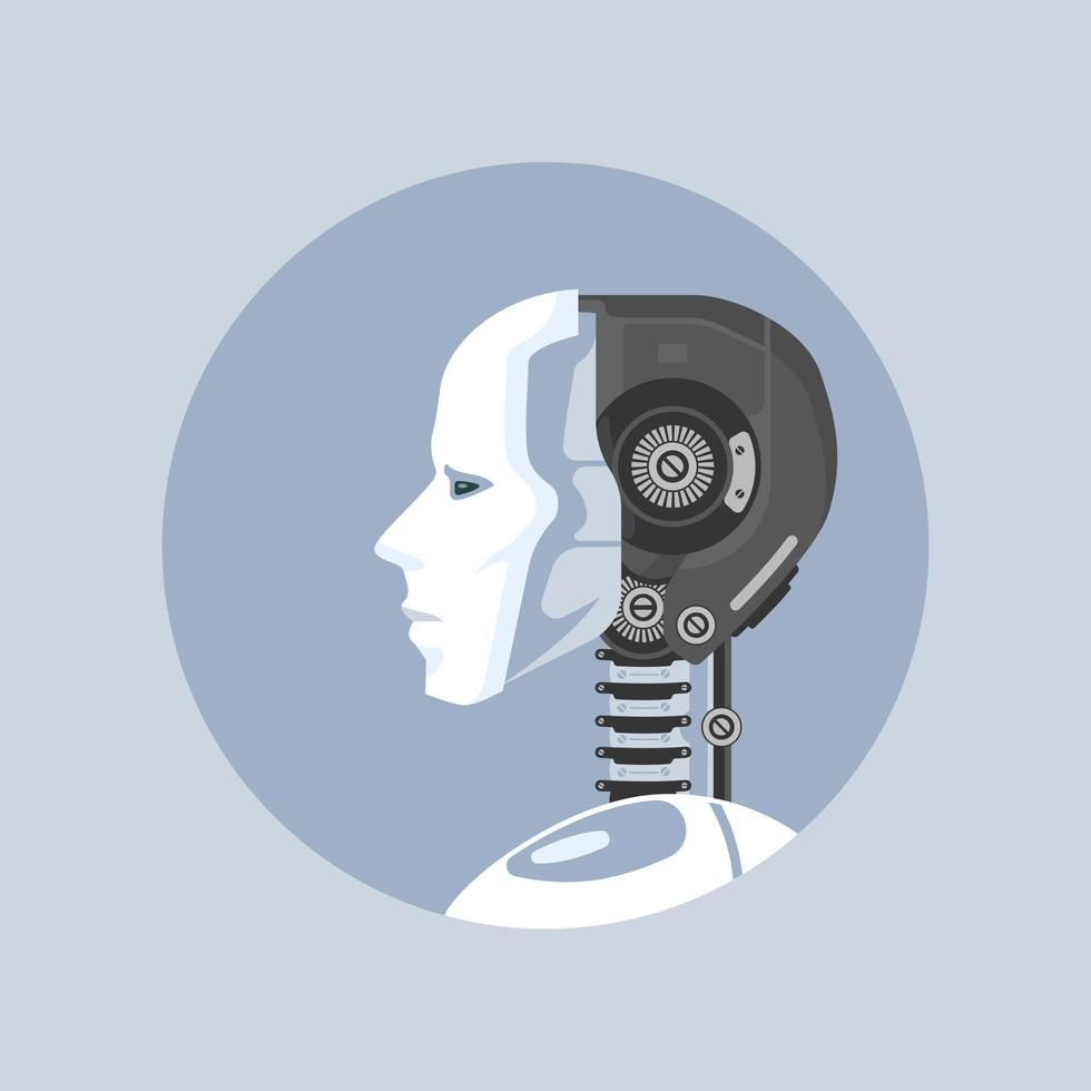 Artificial Intelligence Robot Style Vector Illustration ...