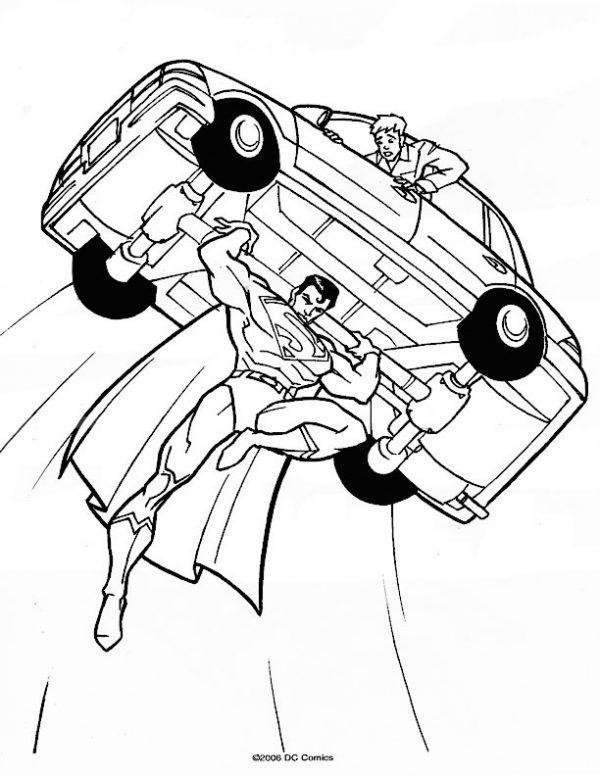 En Iyi Süpermen Boyama Kağıdı Yazdırılabilir Boyama Sayfaları