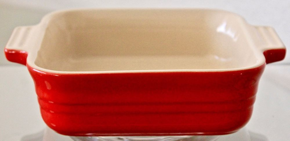 LE CREUSET POTERIE SQUARE BAKING DISH 17-24 RED STONEWARE 5 1/2 INCH ...