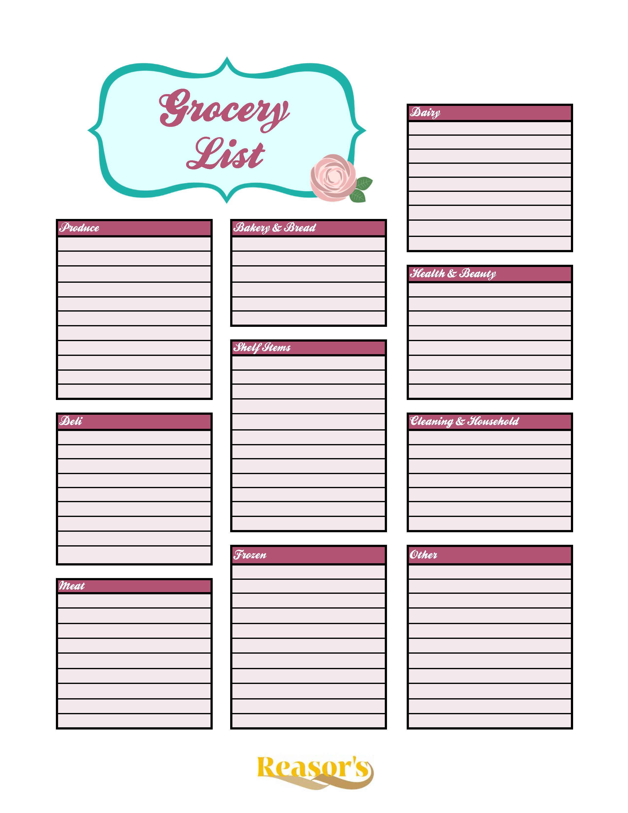 Make Shopping Easier By Organizing Your Grocery List