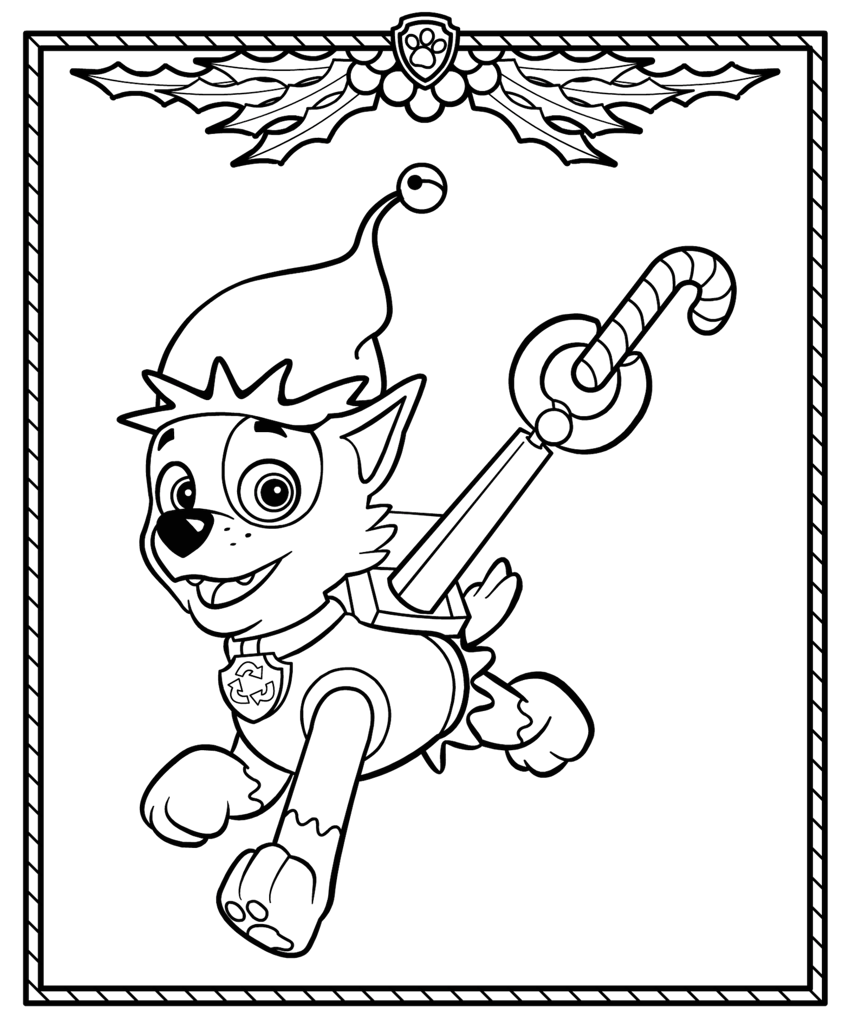 Christmas Coloring Pages Paw Patrol Coloring Paw Patrol Christmas Halloween Coloring Pages