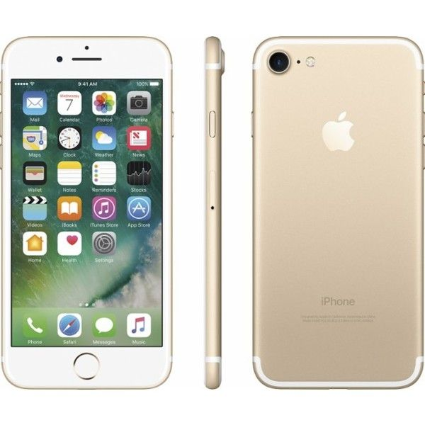 best loved 90eb9 df73b Apple iPhone 7 128GB Gold MN8N2LL/A - Best Buy ($31) ❤ liked on ...
