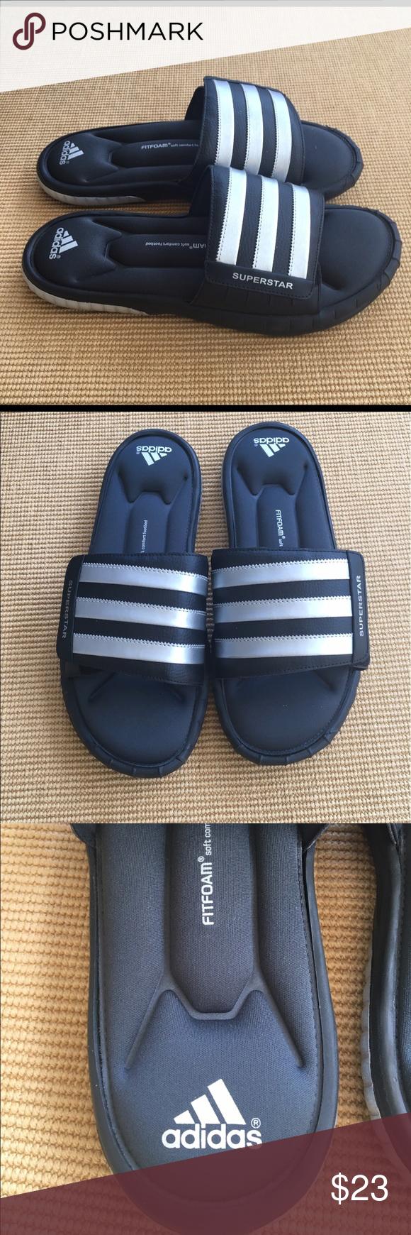 adidas superstar sandali cursori in forma schiuma nwob 12 adidas superstar