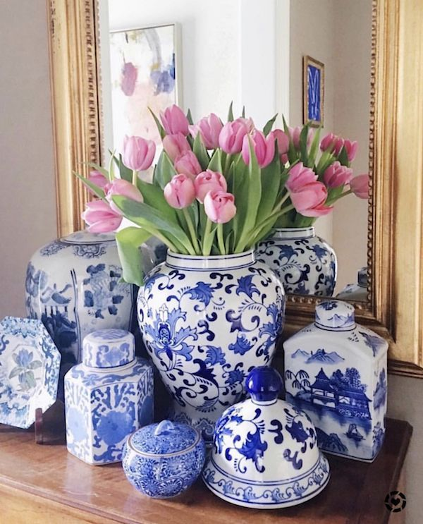 Designer Look For Less Even More Great Home Decor Sources is part of White home decor, White decor, Decor, Blue white decor, Blue and white vase, Blue decor - Find some great online home decor sources to get the designer look for less money  Inspirational ideas for home decor and design