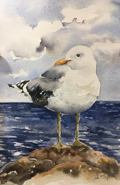 Peppermint Patty S Papercraft Sunday Watercolor Seagulls
