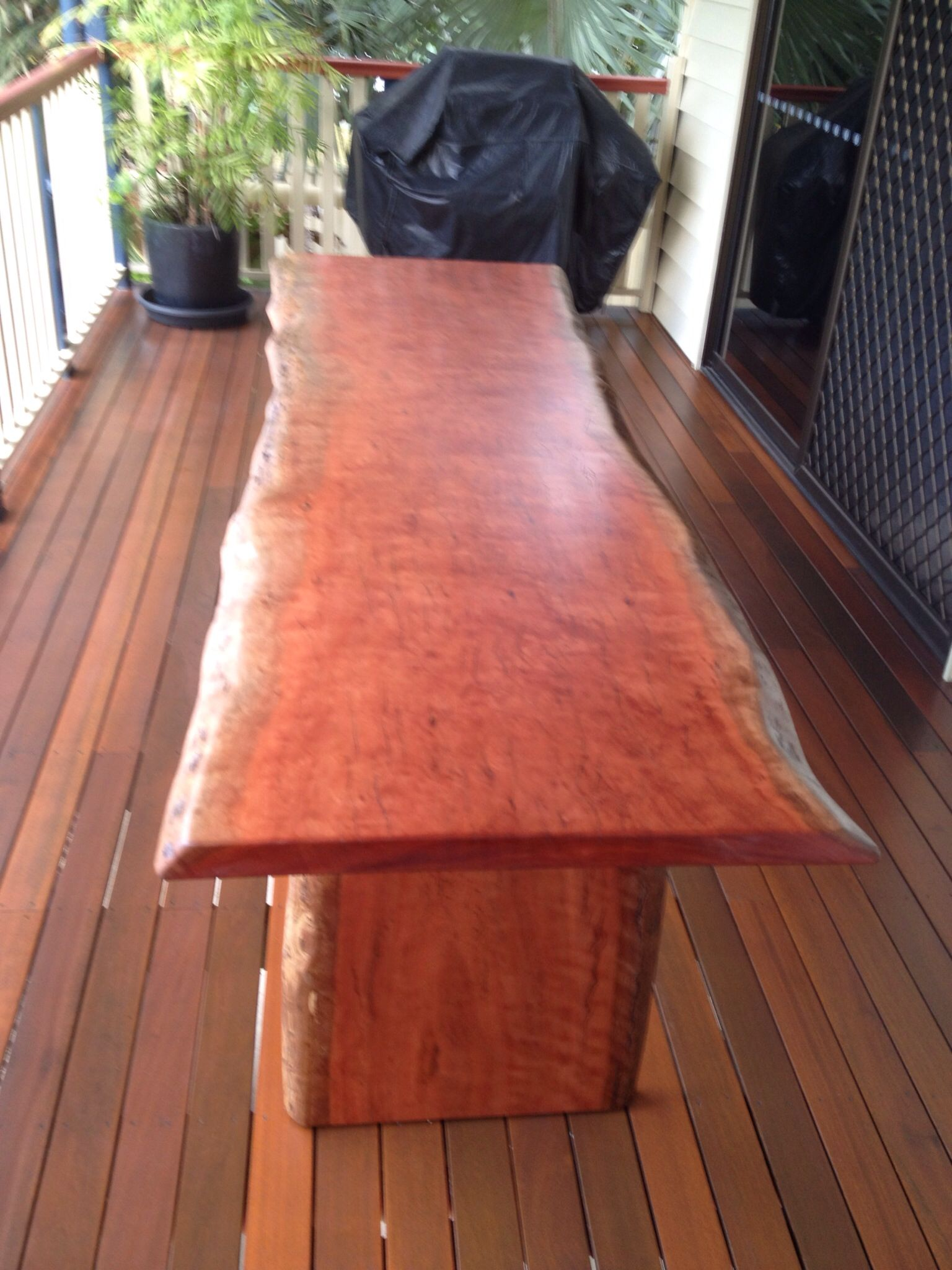 Forest Redgum Single Slab Table Polished In 2 Pack