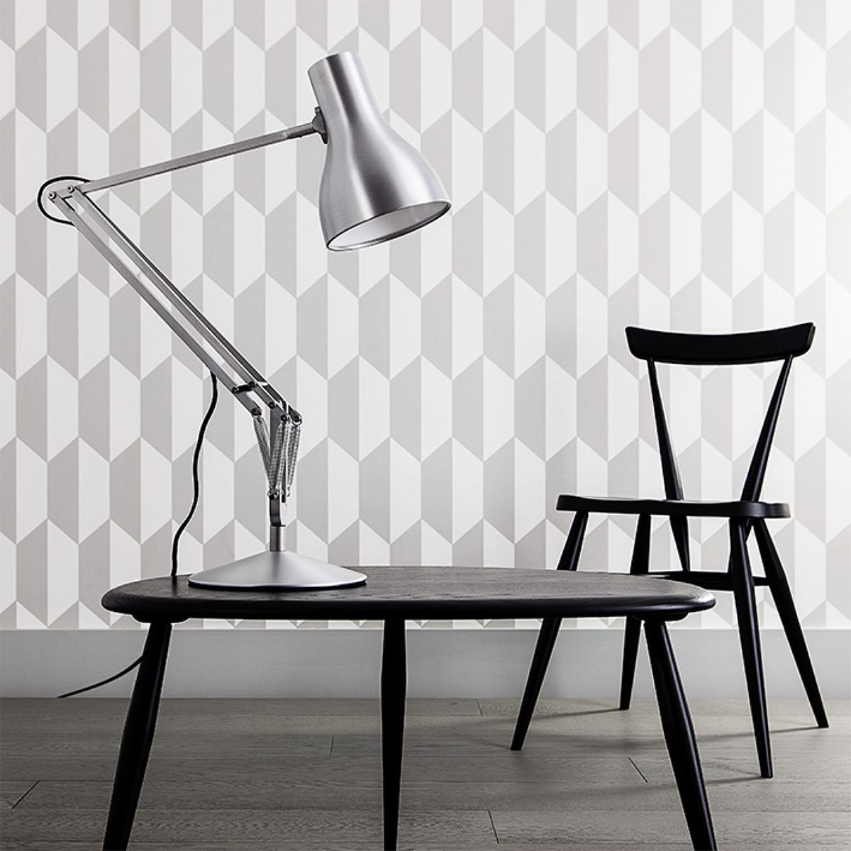 Designer Schreibtischleuchten anglepoise schreibtischleuchte typ 75 schwarz artvoll klassiker