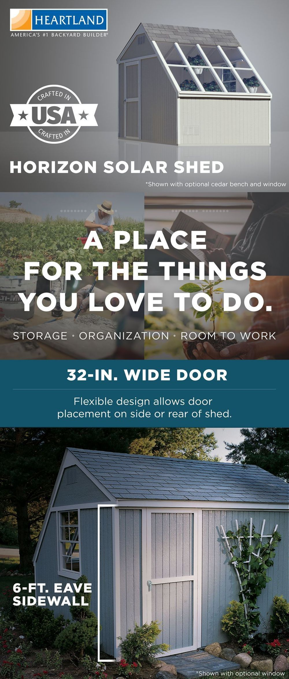 Heartland Common 10 Ft X 8 Ft Interior Dimensions 10 Ft X 7 71 Ft Horizon Saltbox Engineered Storage Shed Installation Not Storage Shed Shed Installation