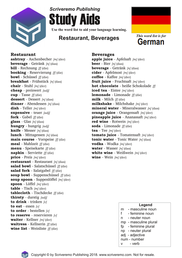 Practise your German with free PDFs - Angelika's German Tuition & Translation