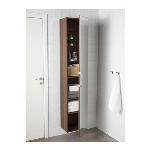 armoire haute porte miroir godmorgon effet noyer salle de bain pinterest armoire. Black Bedroom Furniture Sets. Home Design Ideas