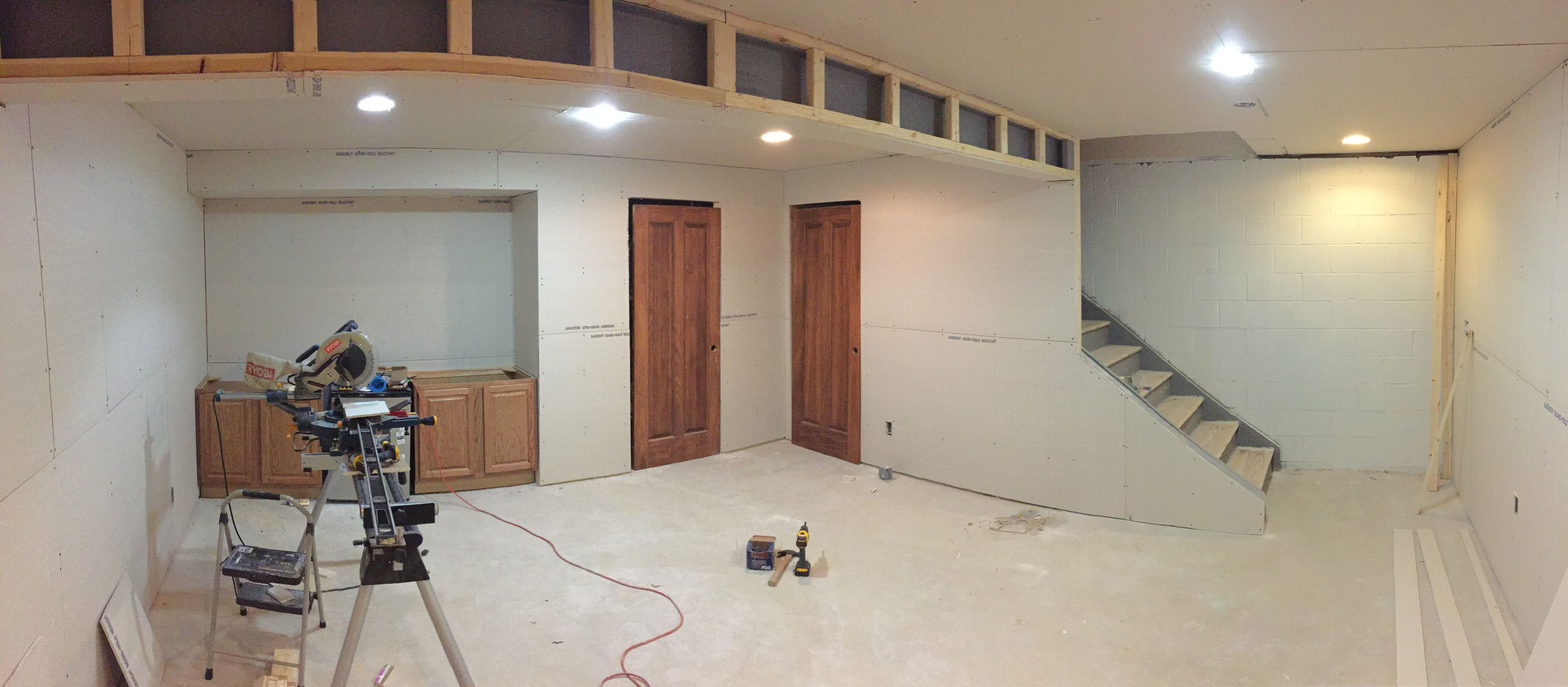 Hanging Drywall for finished basement & How To Finish A Basement On A Budget | Hanging drywall Basements ...