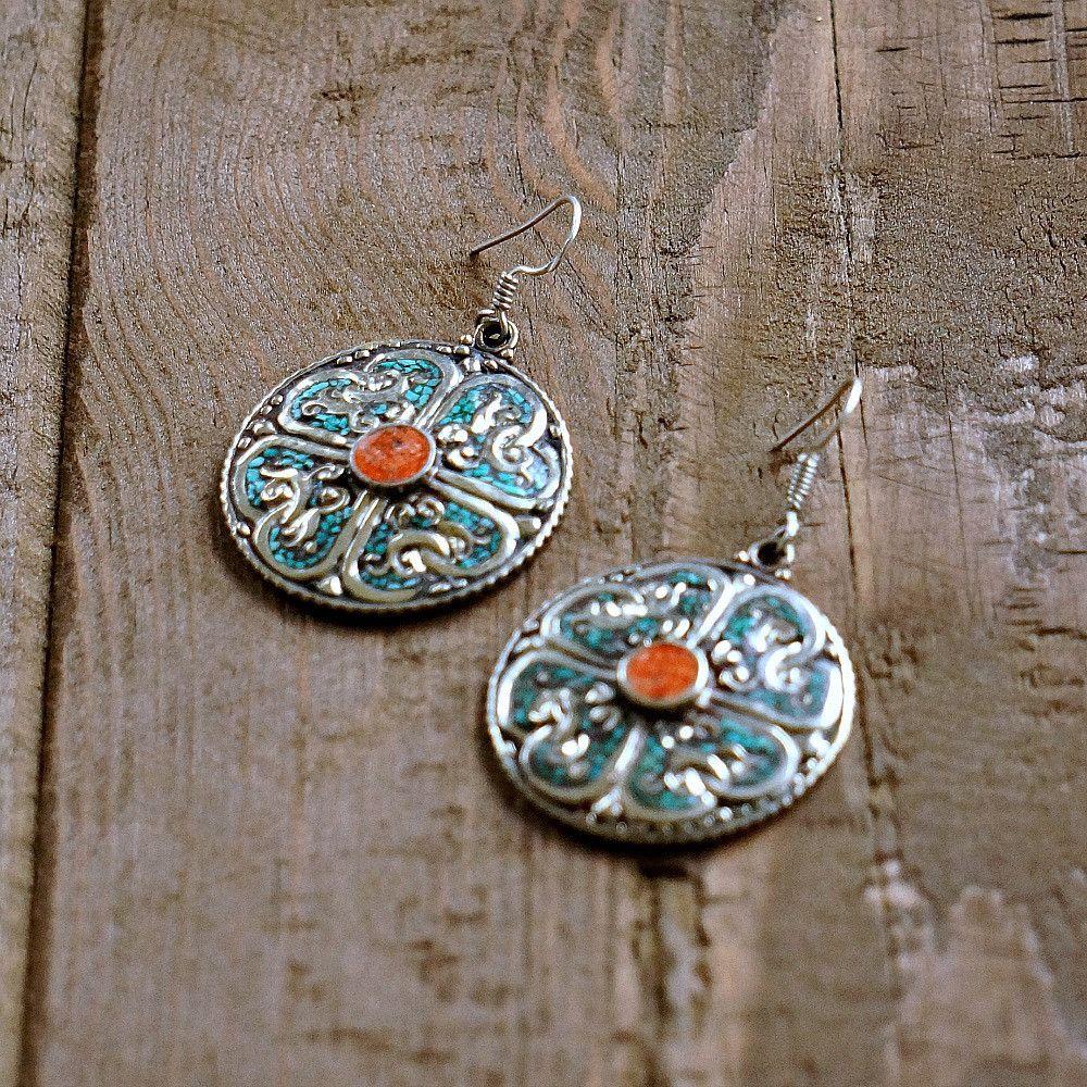 Rampyari Silver Tribal Earrings