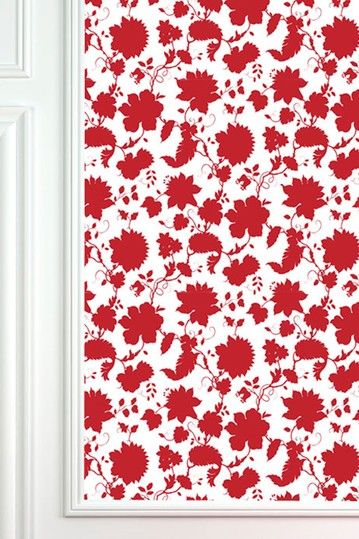 Red Flower Toile Removable Wall Decal By Astek Wall Tiles On Hautelook Wallpaper And Tiles Toile Wallpaper Simple Wallpapers