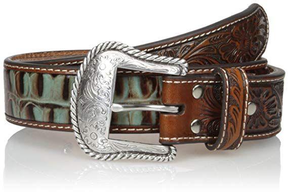 vasta selezione di 6fb15 3b943 Cintura in pelle Nocona tan and turquoise | Cinture country ...