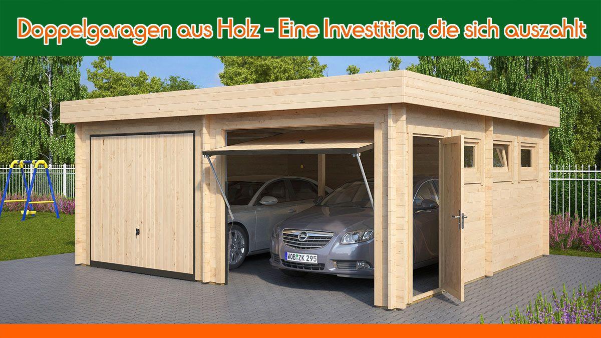 Doppelgaragen Aus Holz Eine Investition Die Sich Auszahlt Double Garage Shed House Plans Shed Homes