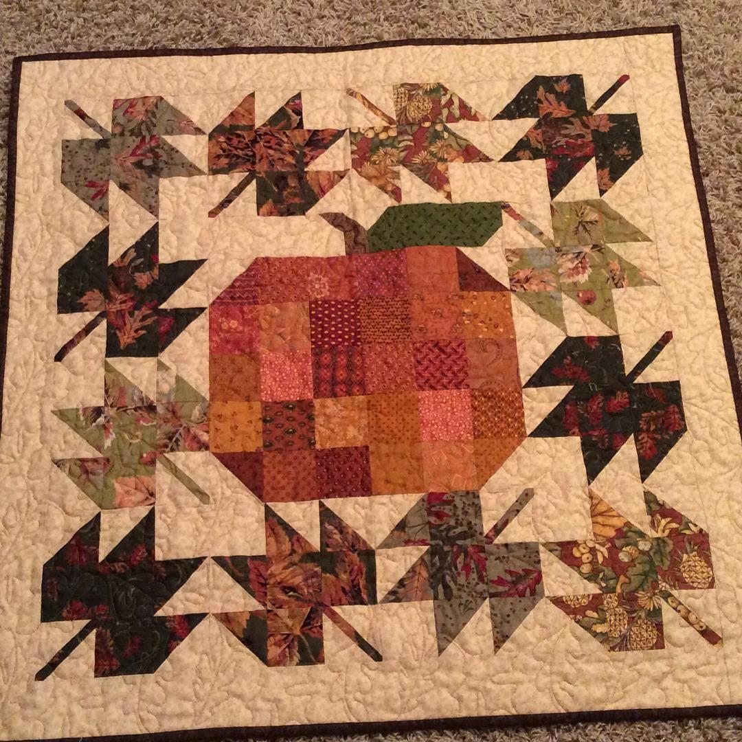 Farm Girl Patchwork Pumpkin And Scrappy Maple Leaf Blocks. Iu0027m Getting Ready  For Fall.
