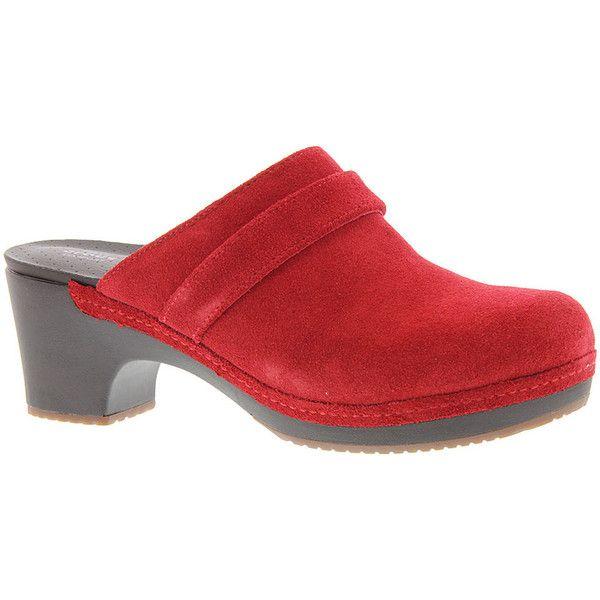 Crocs Sarah Suede Clog Women's Red Slip