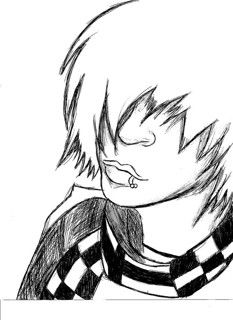 emo anime coloring pages  emo coloring funskissored