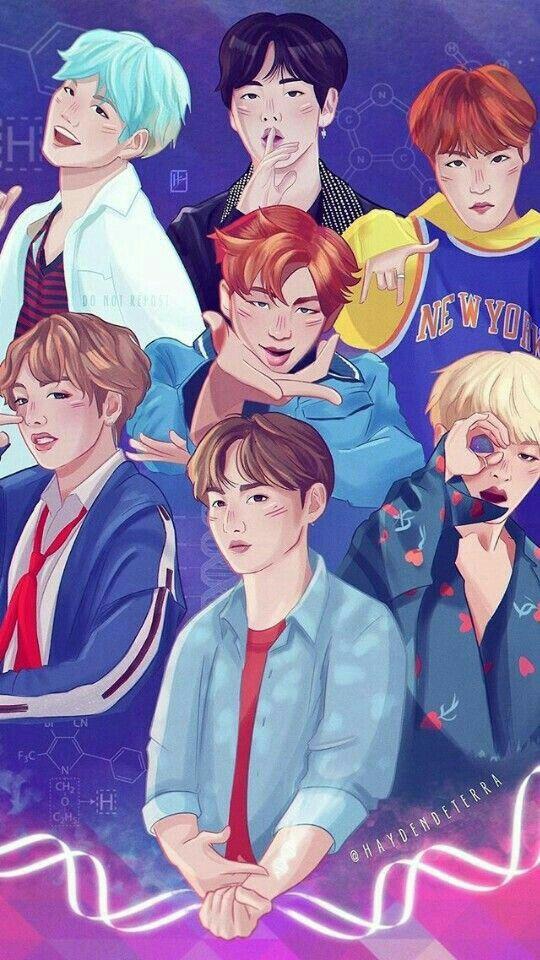 Pin By Laura On Bts Bts Fanart Fan Art Bts Wallpaper