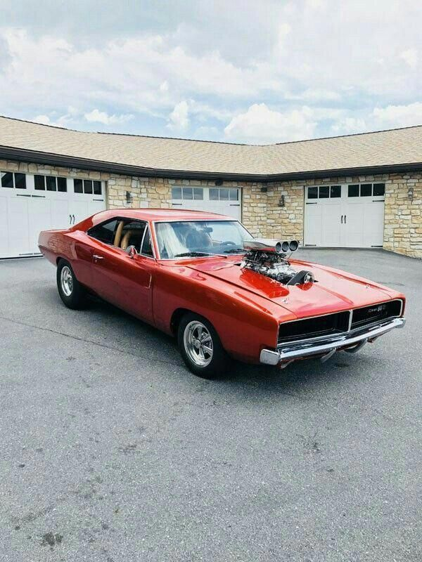 1969 Dodge Charger with blower #DodgeChargerclassiccars