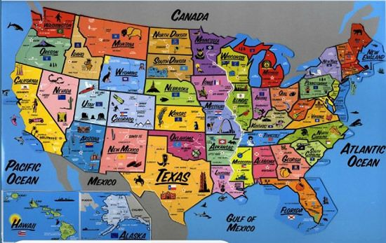 Vintage Usa Maps Vintage Magnetic Usa Map Is A Great Game For