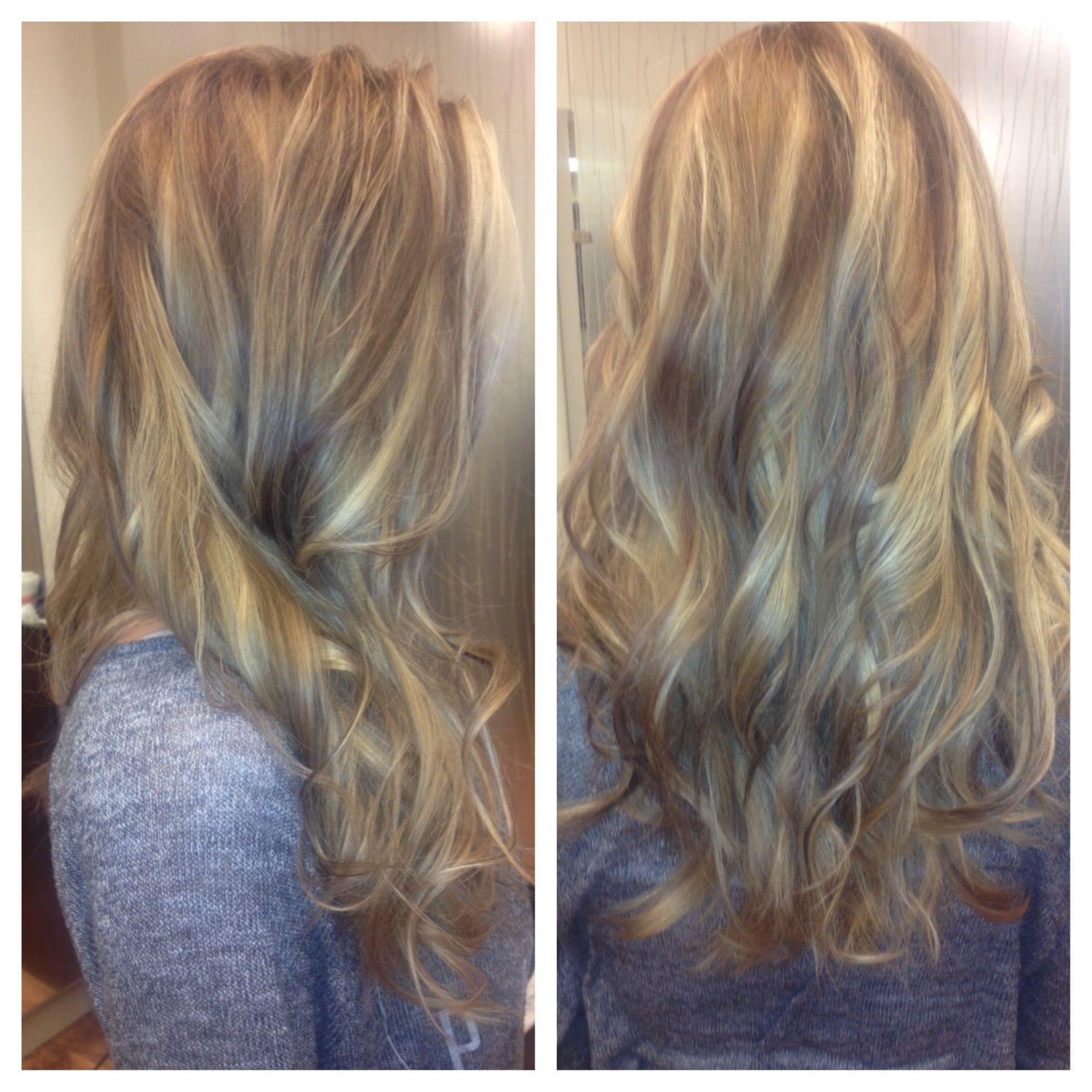 Base Color Highlights Lowlights Beautiful Soft Curls Matrix