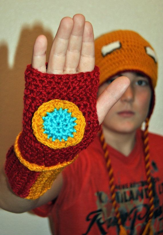 Iron Man inspired crochet hat and wrist warmer set by TORYmakes ...
