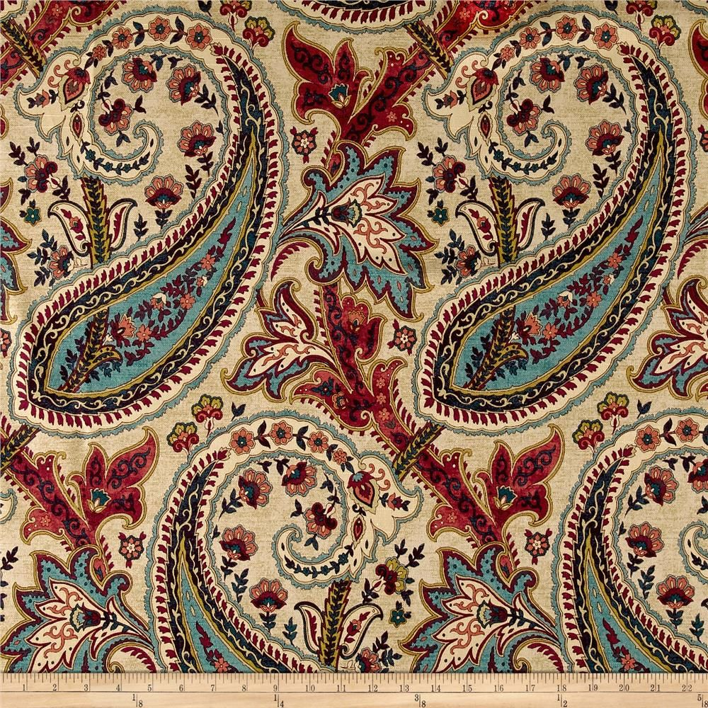 Waverly Plumtree Paisley Jewel From Fabricdotcom Screen