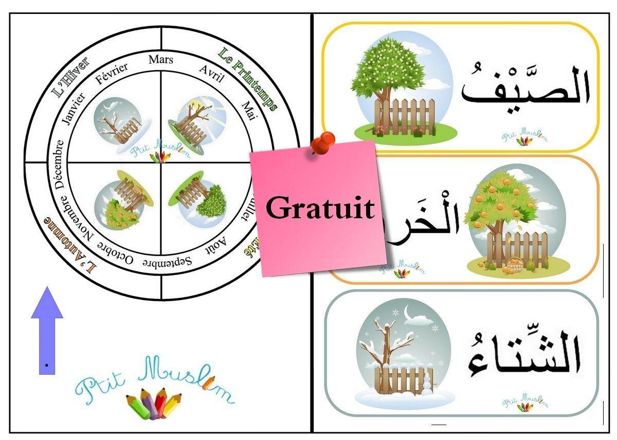 Les 4 Saisons Chemin Vers Le Savoir Les 4 C Apprendre L Arabe Saisons Maternelles