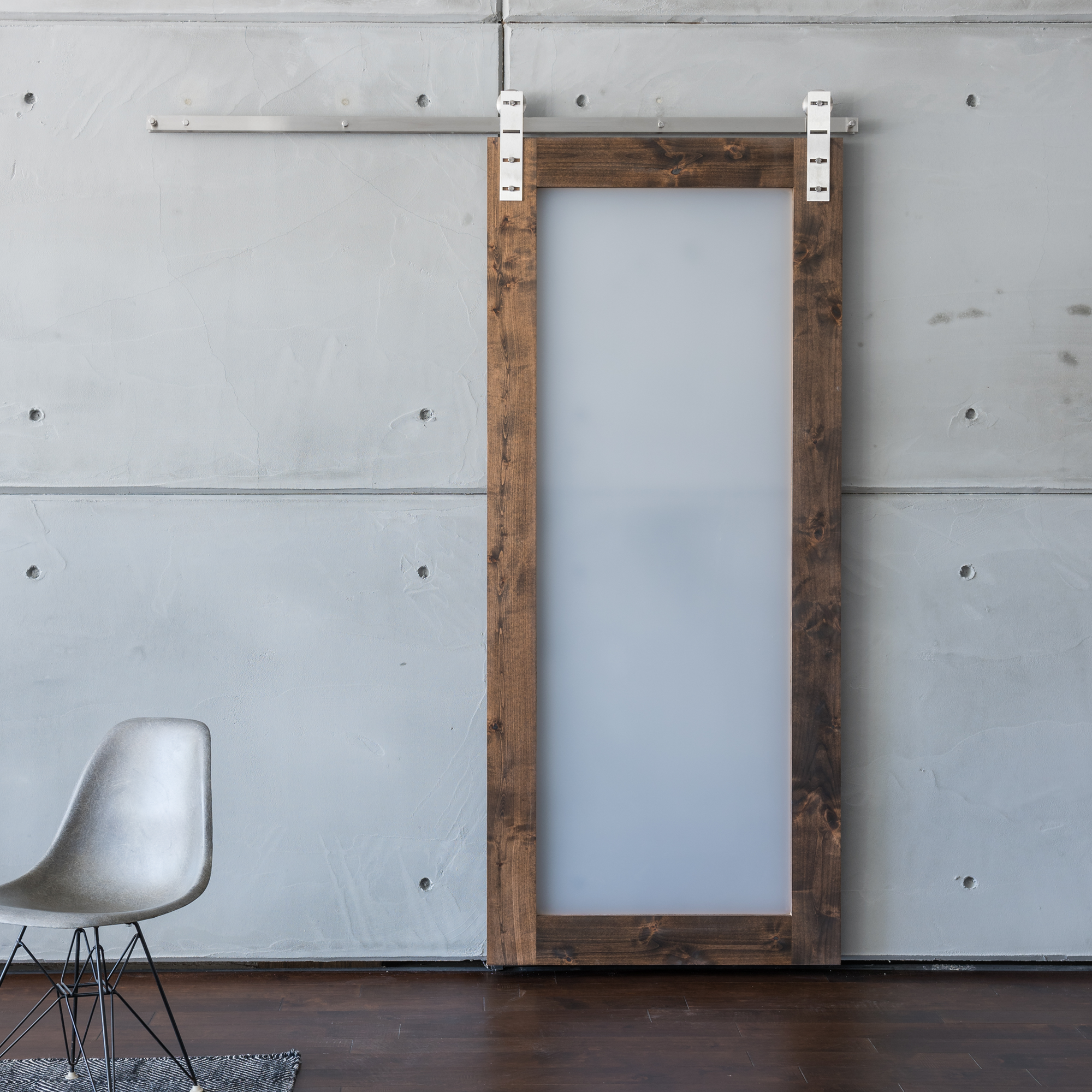 Modern Acrylic Sliding Barn Door Modern Sliding Barn Door