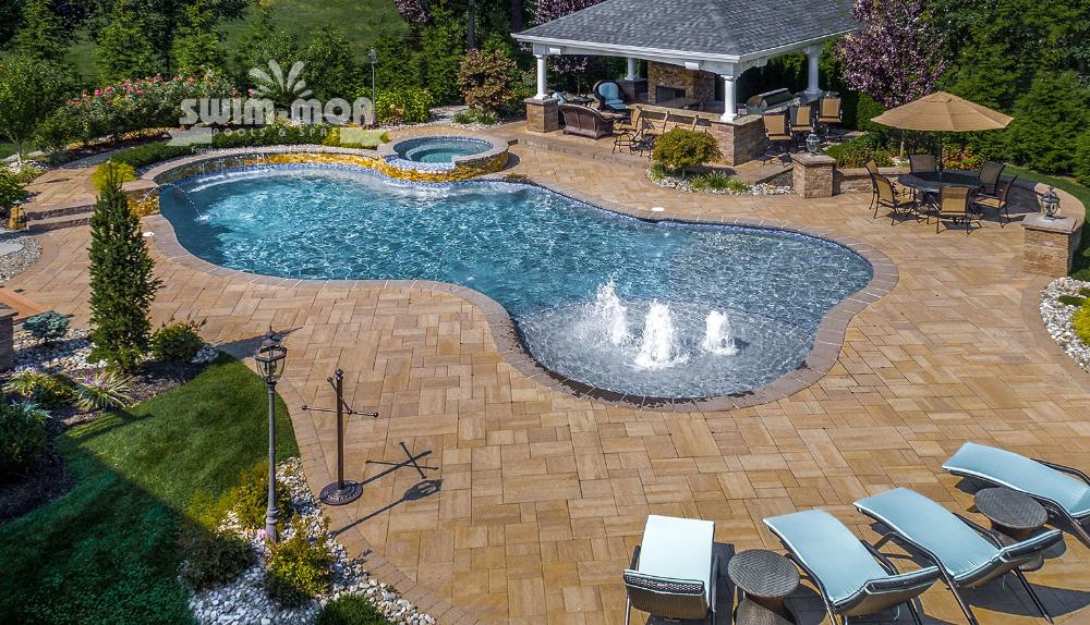 Free Form Pool Designs Swim Mor Pools And Spas Pool Designs Pool Small Backyard Pools