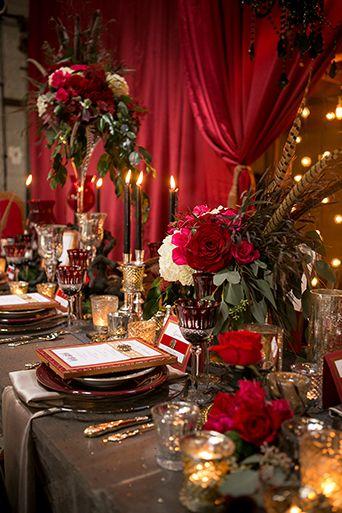 Parisian Circus Wedding Luce Loft Reception Table