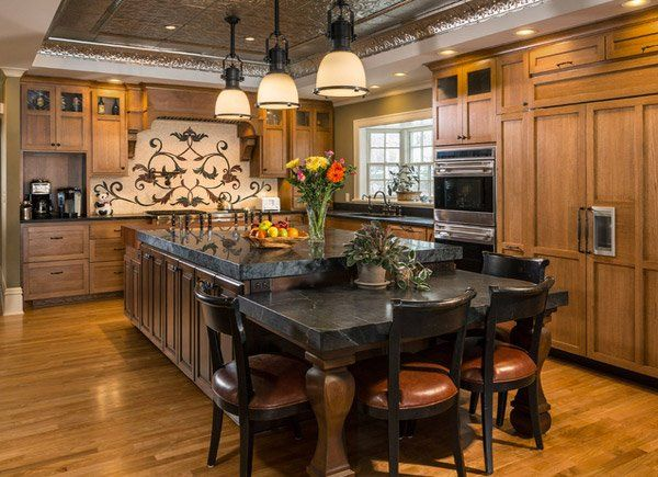 15 Traditional Style Eat-in Kitchen Designs | Kitchens | Pinterest ...