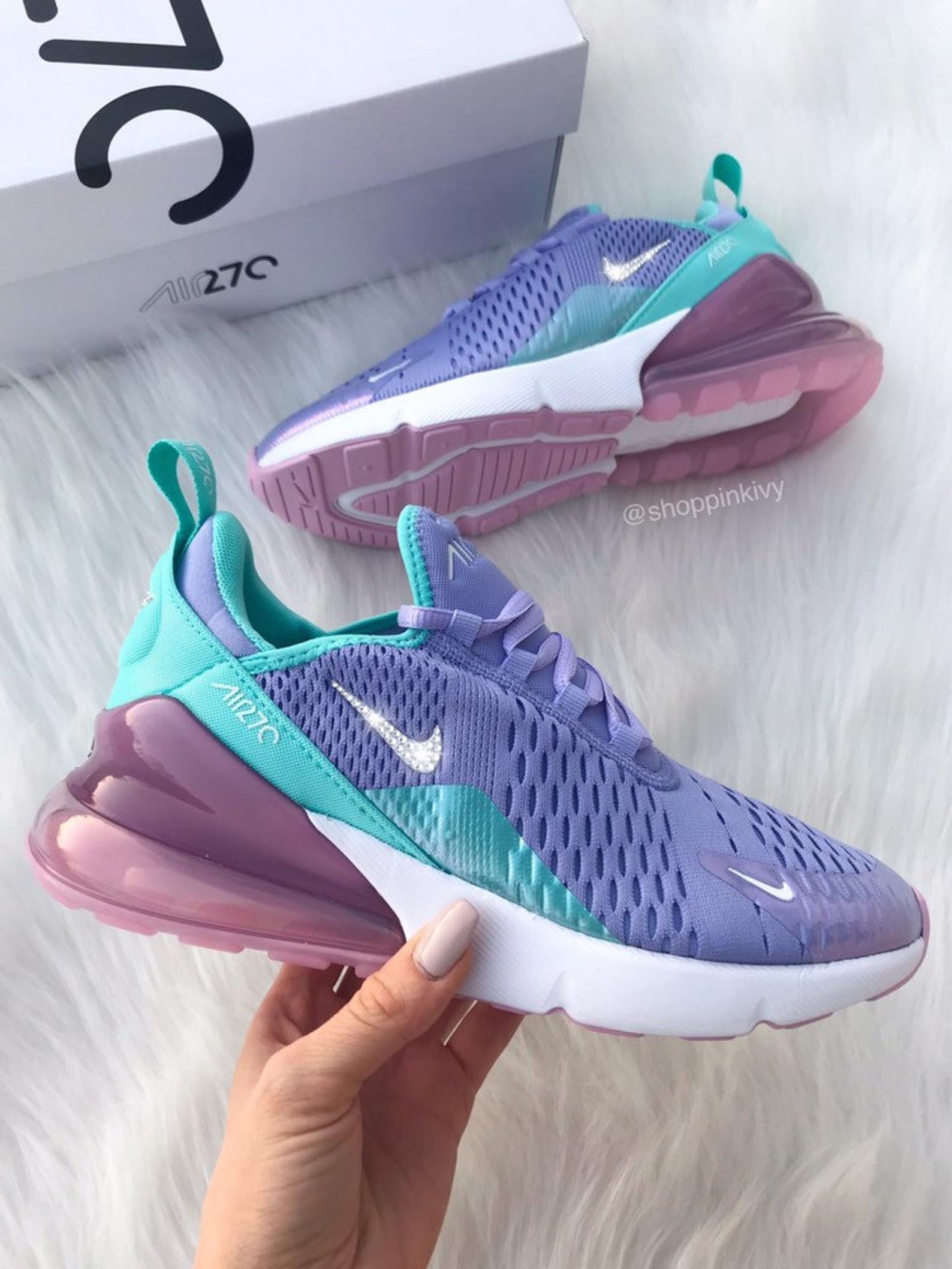 Swarovski Nike Womens Girls Air 270 Customized With