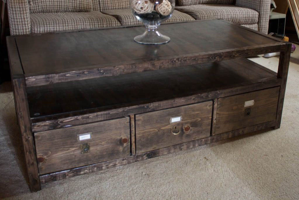 More like home rhyan coffee table free coffee table for Diy coffee table with drawers