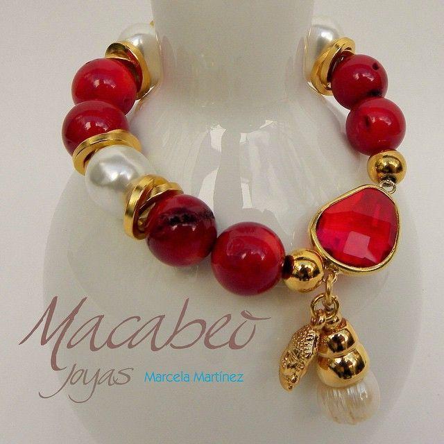29bf5059ae55 Pin de Elba Cruz en perlas | Pulseras y brazaletes, Pulseras de ...