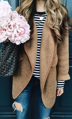 43% OFF! Only $39.90! Staying on point this fall has is going to be so enviably easy. Just Knitted Open Coat in Brown featured by The Teacher Diva Blog US