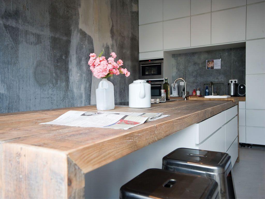 Houten keukenblad restylexl keukenbladen met karakter in