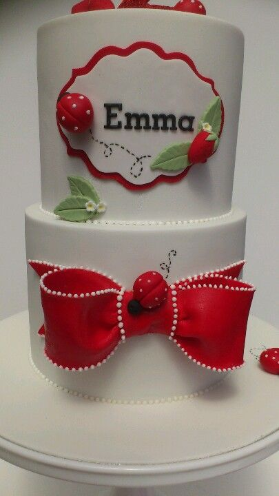 Close up of ladybug cake by cakearcade Cake Arcade Cake