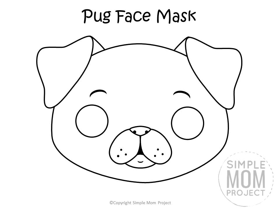 Dog Face Mask Templates Dog Template Puppy Crafts Dog Mask