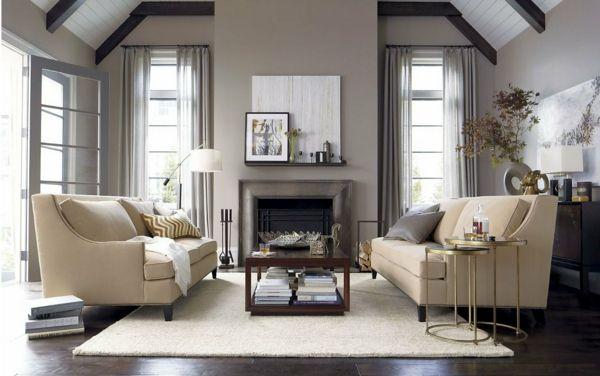 sofas und nesttisch im wohnzimmer - Wie ein modernes Wohnzimmer - modernes wohnzimmer ideen