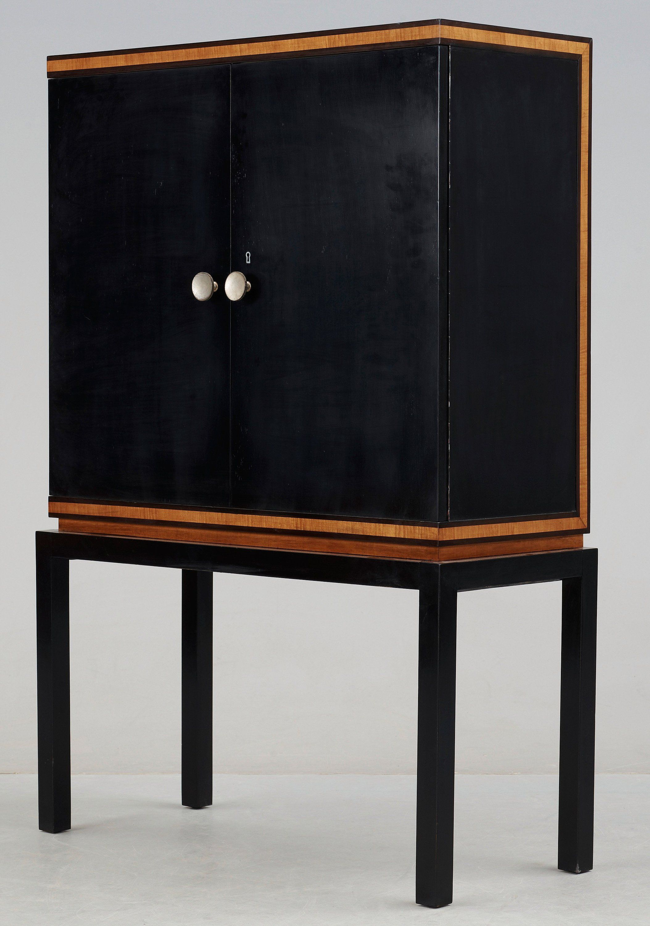 Otto Schultz Stained Birch And Mahogany Cabinet For Boet, 1930S