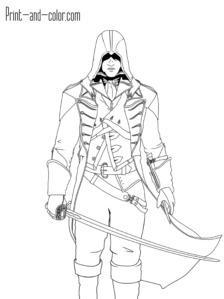 Assassins Creed Coloring Pages : assassins, creed, coloring, pages, Dorian, (Assassin's, Creed, Unity), Assassins, Creed,, Assassin
