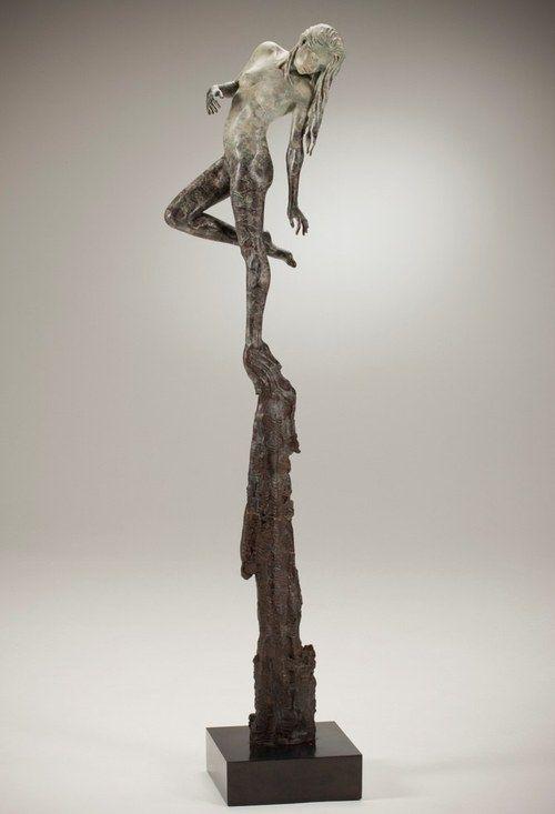 2013 - London-based artist michael-James Talbot  creates beautiful sculptures of elongated women inspired by Greek mythology and Venetian.