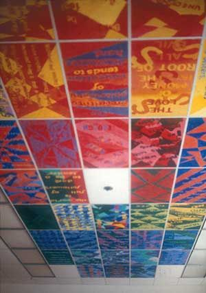 color theory painting on the ceilings